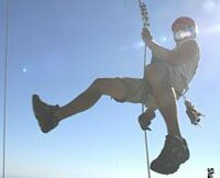 Abseiling Table Mountain, Cape Town